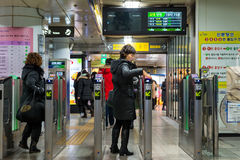 Gangnam station Arkivbilder