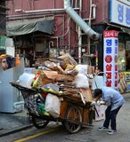 Gangnam-Straßenleben in Seoul Lizenzfreie Stockfotografie