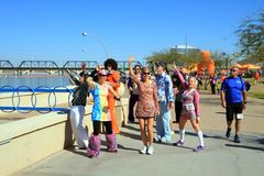 USA, AZ: Long Dist. Relay - Fun With Gangnam  Royalty Free Stock Image