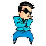 Gangnam Style Dance. A stylish business man dancing gangnam style Stock Photo
