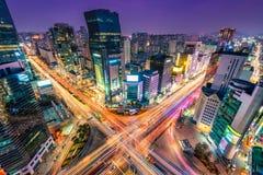 Gangnam trafik Royaltyfria Bilder