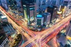 Gangnam trafik Arkivbild
