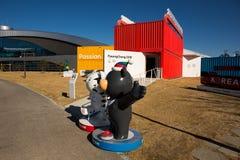 GANGNEUNG, CORÉE DU SUD - JANVIER 2017 : Figure des mascottes des Jeux Olympiques 2018 d'hiver dans Pyeongchang Photographie stock libre de droits