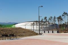 GANGNEUNG, COREA DEL SUD - GENNAIO 2017: Arena del ghiaccio di Gangneung Fotografia Stock Libera da Diritti