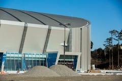 GANGNEUNG, COREA DEL SUD - GENNAIO 2017: Centro dell'hockey di Gangneung della costruzione Immagine Stock