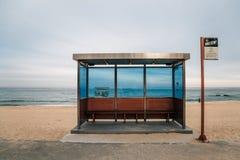 Hyangho Beach Bus Stop in Gangneung, Korea
