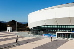 GANGNEUNG, SOUTH KOREA - JANUARY, 2017: Gangneung Ice Arena. For the Olympic Games 2018 in Pyeongchang Royalty Free Stock Image