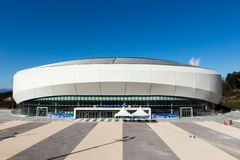 GANGNEUNG, SOUTH KOREA - JANUARY, 2017: Gangneung Ice Arena. For the Olympic Games 2018 in Pyeongchang Royalty Free Stock Images