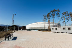 GANGNEUNG, SOUTH KOREA - JANUARY, 2017: Gangneung Ice Arena. For the Olympic Games 2018 in Pyeongchang Stock Photography