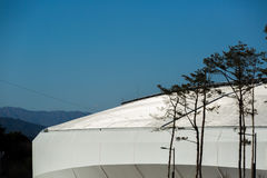 GANGNEUNG, SOUTH KOREA - JANUARY, 2017: Gangneung Ice Arena. For the Olympic Games 2018 in Pyeongchang Royalty Free Stock Photos