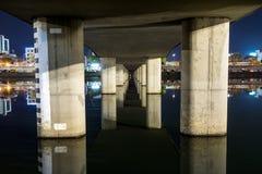Gangneung under bridge Royalty Free Stock Photography