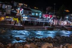 Gangotri i nätter royaltyfri bild
