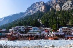 Gangotri - indischer Himalaja lizenzfreie stockfotografie