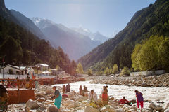 Gangotri on the River Ganges Royalty Free Stock Image