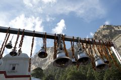 Gangotri Temple at Gangotri, Uttarkashi District, Uttarakhand, I Stock Image