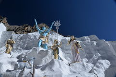 Gangotri, Uttarakhand, Índia Deuses indianos Imagem de Stock Royalty Free