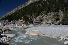 Gangotri, Uttarakhand, Ινδία ποταμός του Γάγκη στοκ εικόνες