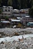 Gangotri, Uttarakhand, la India Río Ganges en la India Imágenes de archivo libres de regalías