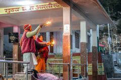 Gangotri, Uttrakhand, ind - Październik 8, 2018: Gangotri, Uttra - zdjęcie royalty free