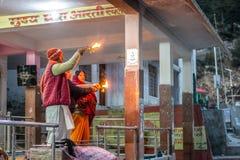 Gangotri, Uttrakhand, India - Oktober 8, 2018: Gangotri - Uttra royalty-vrije stock foto