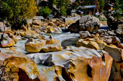 Gangotri Waterfall-Ganges Royalty Free Stock Photography