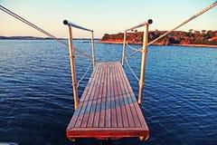 Gangplank żaglówka Fotografia Stock