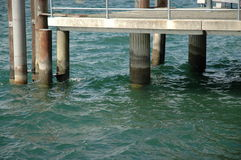 Gangplank. Concrete gangplank at lake constance, germany Royalty Free Stock Photo