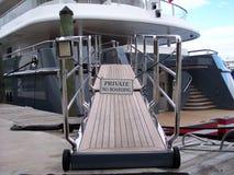 Gangplank del yate Imagen de archivo libre de regalías