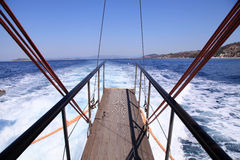 Gangplank of the sailboat Stock Image