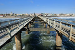 The gangplank of Swakopmund Royalty Free Stock Images