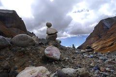 Gangrenboqi mountain near the celestial burial Stock Photography