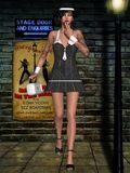 Gangsta Babe. 3D Render of an Gangsta Babe Royalty Free Stock Photo