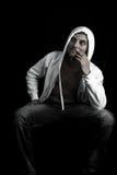 Gangsta pensativo Fotografia de Stock Royalty Free