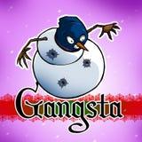 Gangsta Snowman. Gangster snowman getting shot up Stock Photos