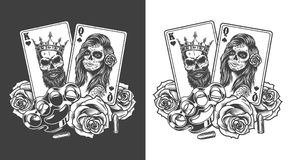 Gangstaconcept met speelkaart vector illustratie