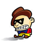 Gangster. Cartoon character gangster - vector illustration Royalty Free Stock Photo