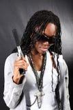 gangster afro american Fotografia Stock Libera da Diritti