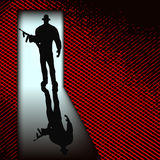 Gangster alla porta Fotografie Stock Libere da Diritti