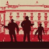 Gangster-Angebot-Hintergrund Stockbilder