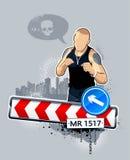 Gangster auf Straße Lizenzfreie Stockfotos