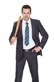 Gangster with baseball bat Stock Photo