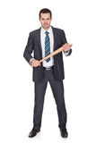 Gangster with baseball bat Royalty Free Stock Photography