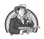 Gangster-Bier-Grafiken Lizenzfreie Stockbilder