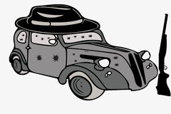 Gangster car Royalty Free Stock Photography
