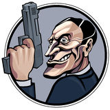 Gangster. Cartoon gangster with gun. Eps8 CMYK Organized by layers Gradients free Royalty Free Stock Images