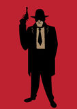 Gangster. Cartoon illustration of gangster from the Prohibition era Stock Image