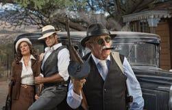 Gangster-Chef mit Partnern Lizenzfreies Stockfoto
