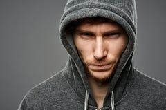 Gangster closeup portrait Stock Images