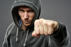 Gangster closeup portrait Stock Photography