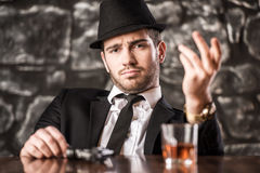 Gangster. Royalty Free Stock Photography